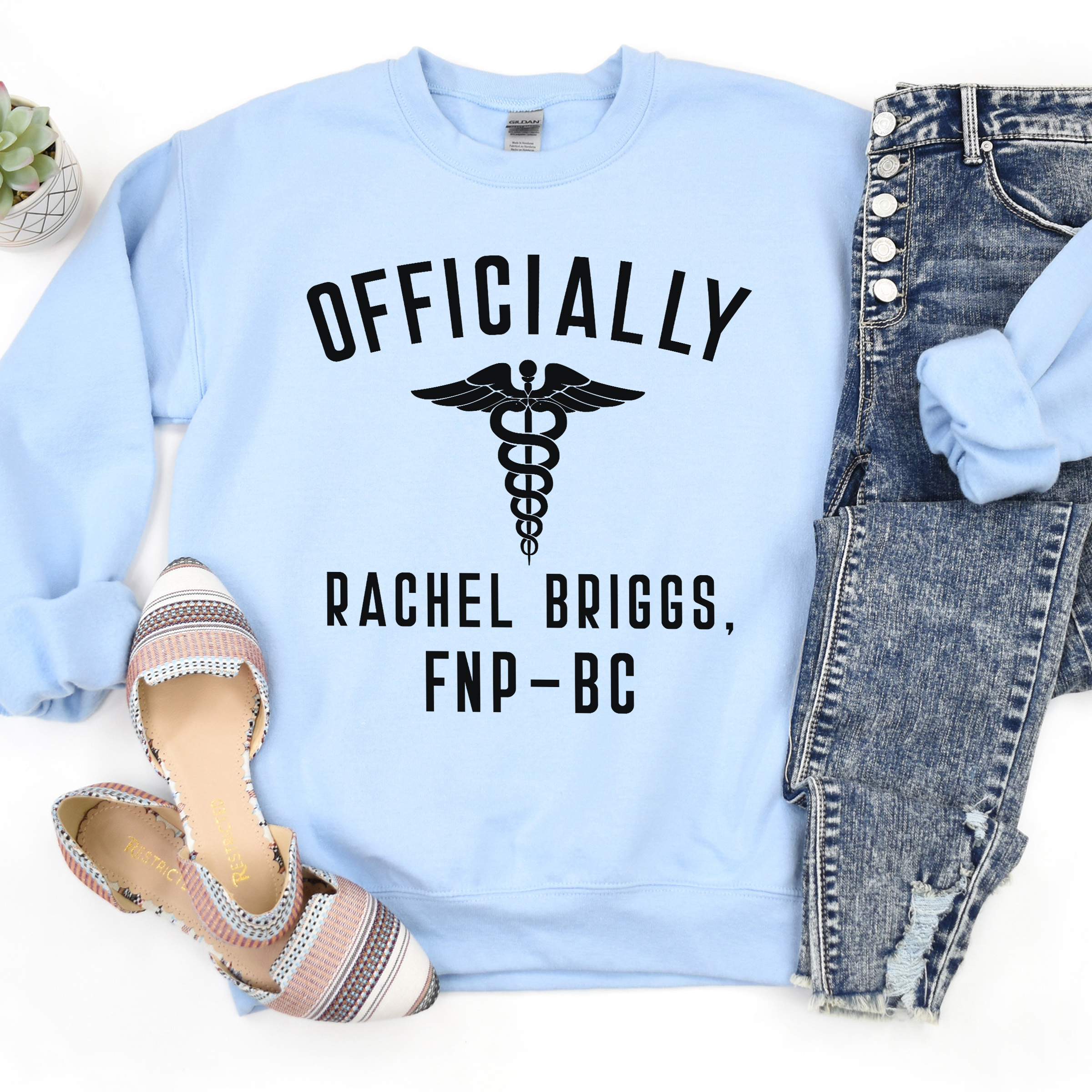 Custom Name And Credentials Officially FNP-C Sweatshirt