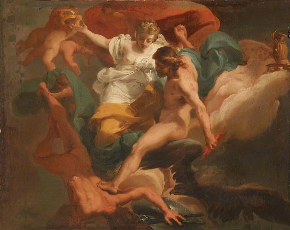 Zeus with Hera Expelling Hephaestus