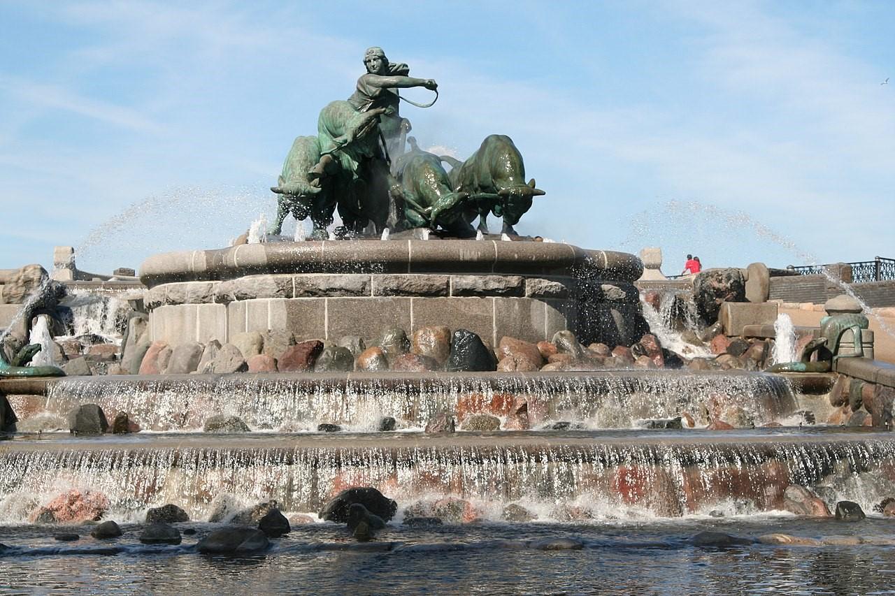 Gefion fountain in Copenhagen c 2008 Niels Elgaard Larsen