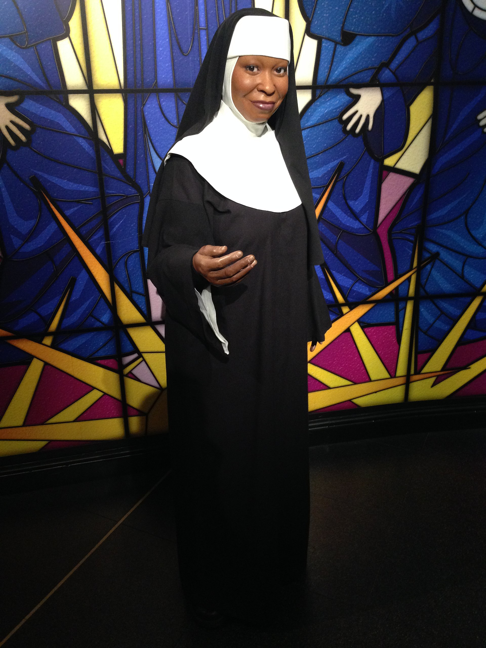 Whoopi Goldberg at Madame Tussauds London - November 1st, 2016