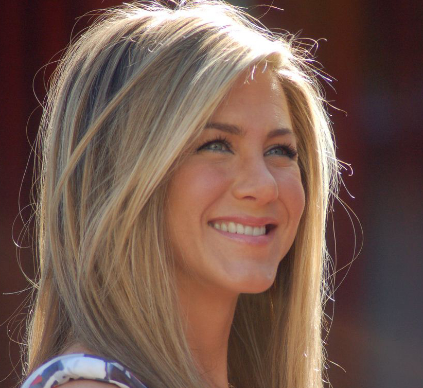 Jennifer Aniston at a ceremony to receive a star on the Hollywood Walk of Fame.