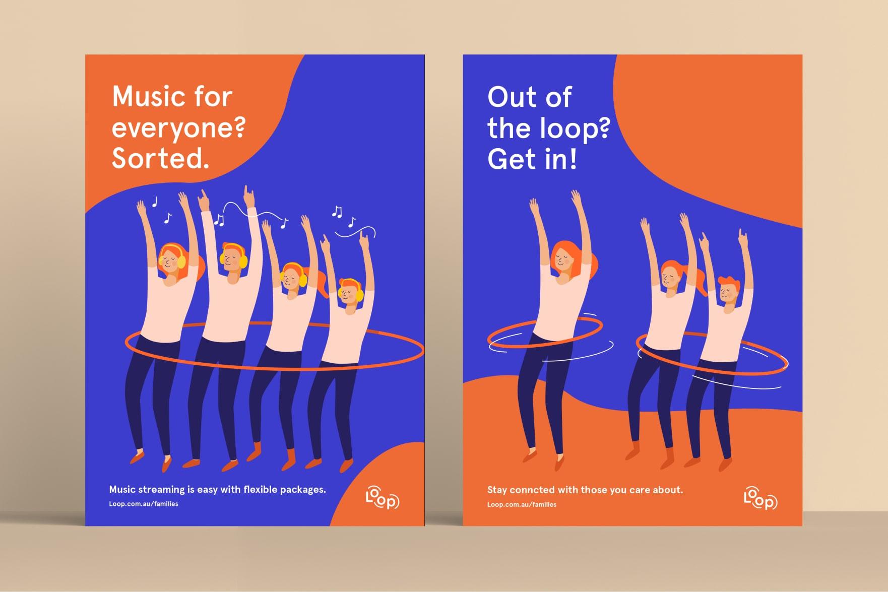 LOOP branding posters