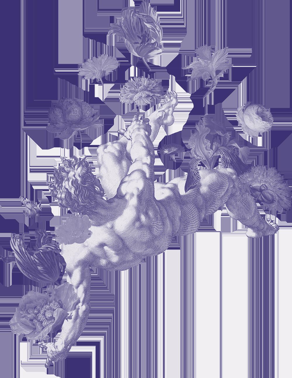 A man falling.
