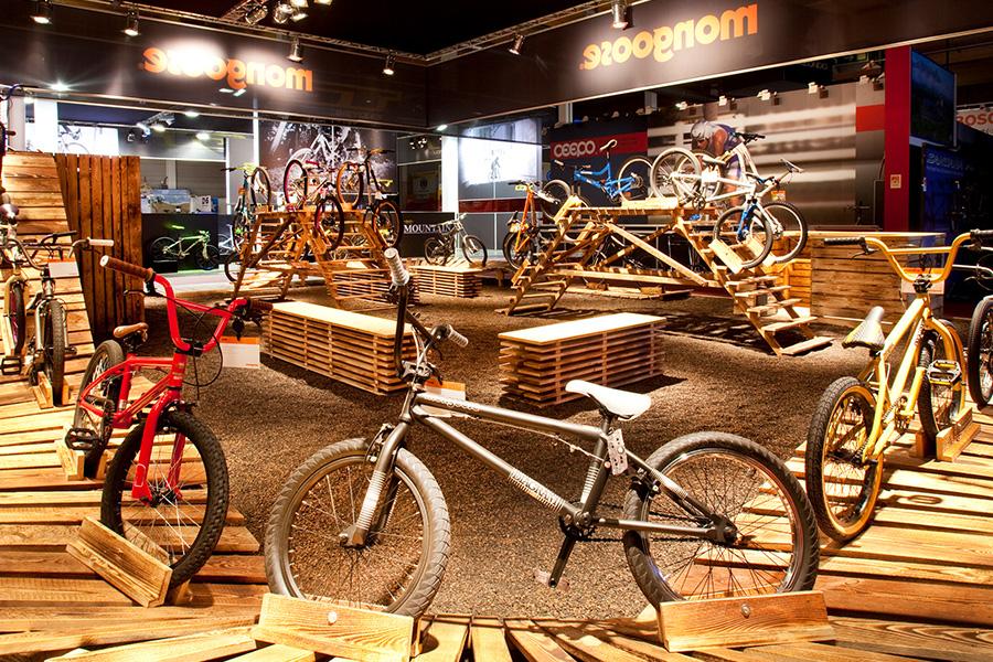 mongoose bikes eurobike csg Friedrichshafen Messestand trade fair booth Messe Ausstellung Shop Retail Kongress München design trade fair booth