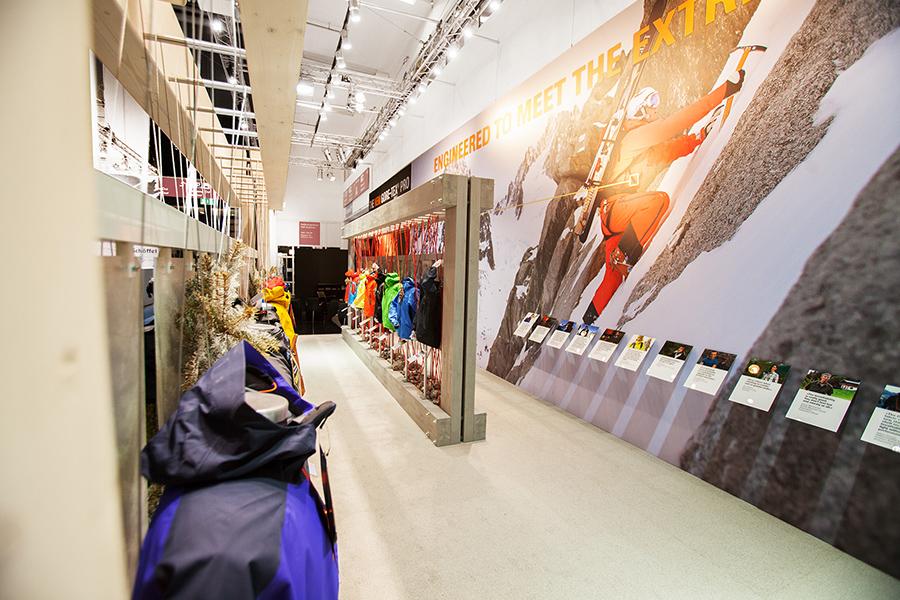 Gore Tex outdoor sports Messestand trade fair booth Messe Ausstellung Shop Retail Kongress München design trade fair booth