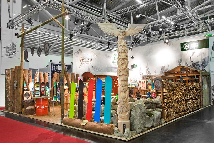 k2 snowboard Messestand trade fair booth Messe Ausstellung Shop Retail Kongress München design trade fair booth