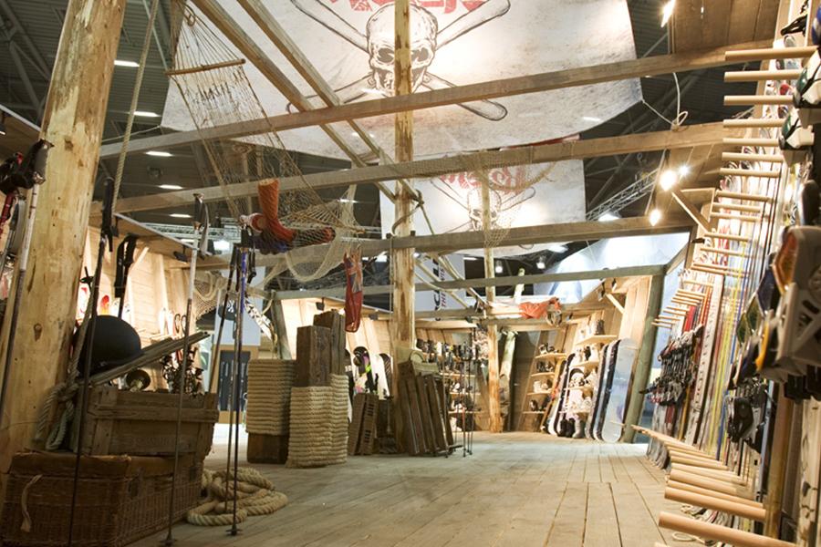K2 Piraten schiff Messestand trade fair booth Messe Ausstellung Shop Retail Kongress München design trade fair booth
