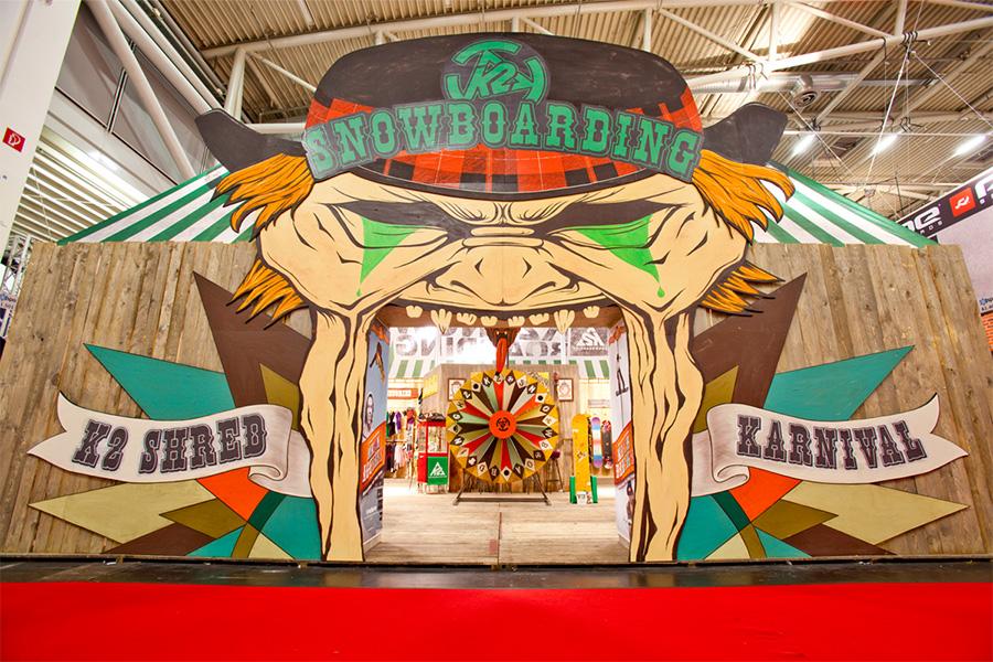 K2 snowboards ispo Messestand trade fair booth Messe Ausstellung Shop Retail Kongress München design trade fair booth