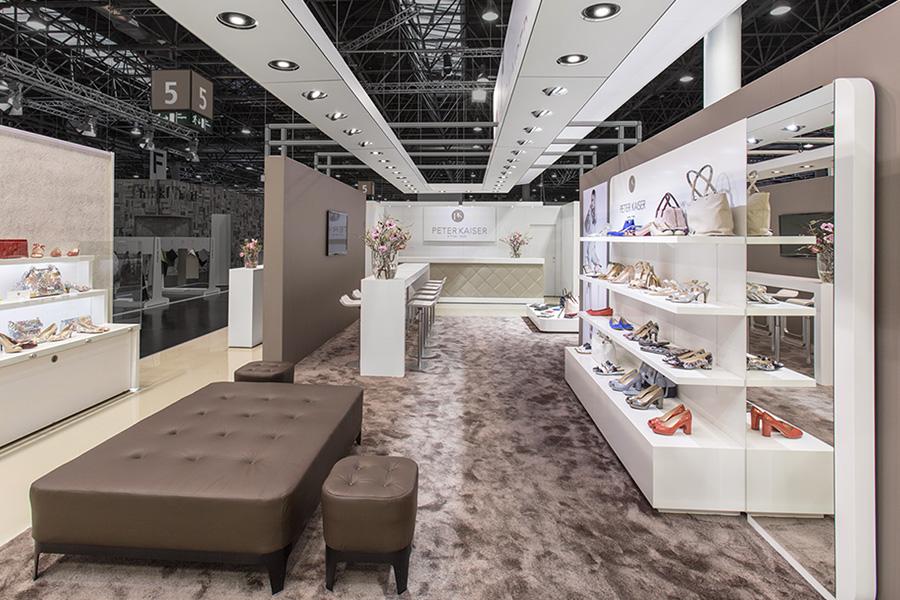 Peter Kaiser SchuheMessestand trade fair booth Messe Ausstellung Shop Retail Kongress München design trade fair booth