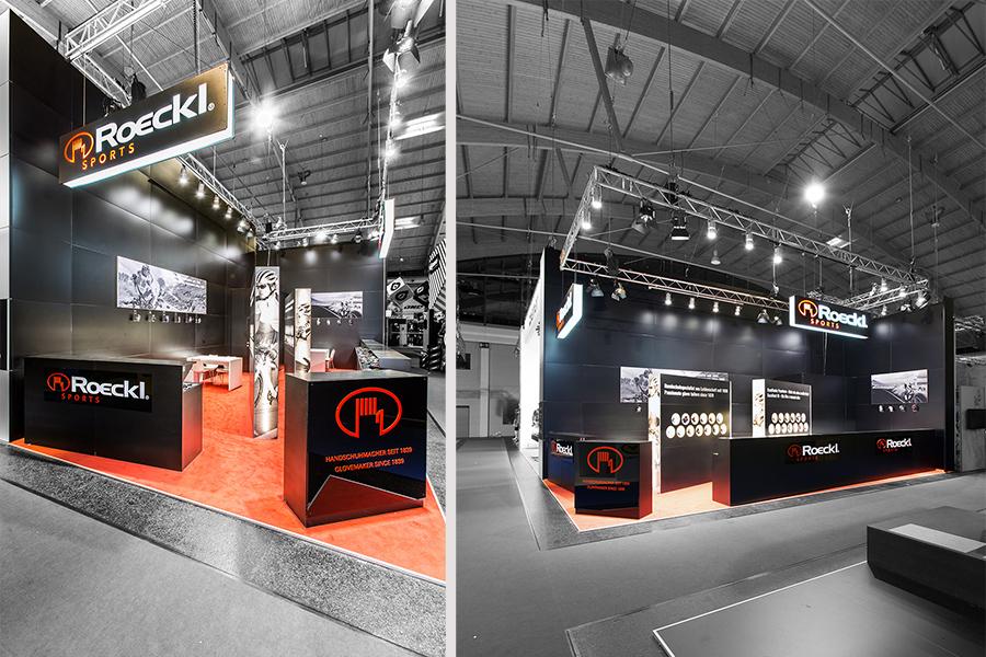 Roeckl Sport Handschuhe ISPO Messestand trade fair booth