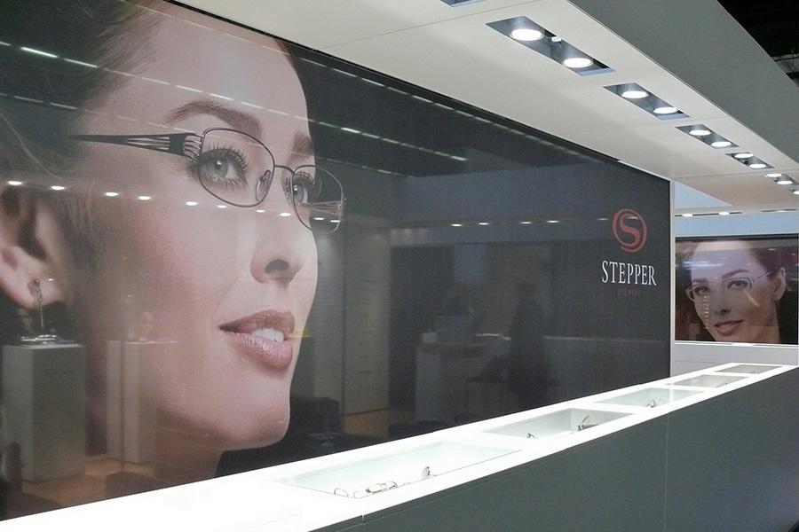 stepper eyewear booth design trade fair Messestand
