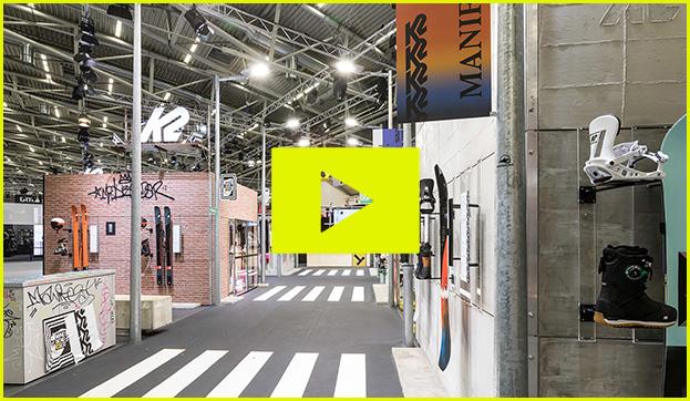 k2 snow sports ispo Messe Ausstellung Shop Retail Kongress München design trade fair booth video