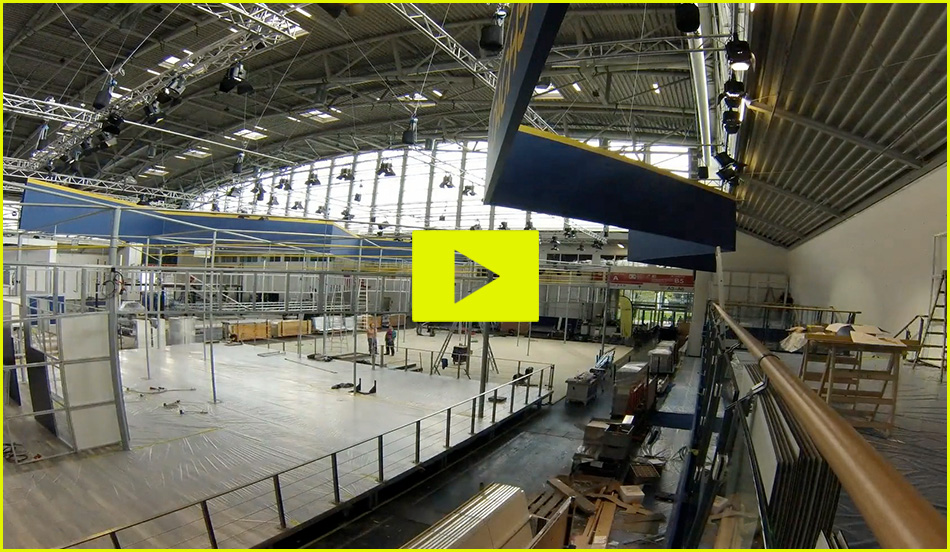 timelapse trade fair booth design video Dachser logistics messe münchen