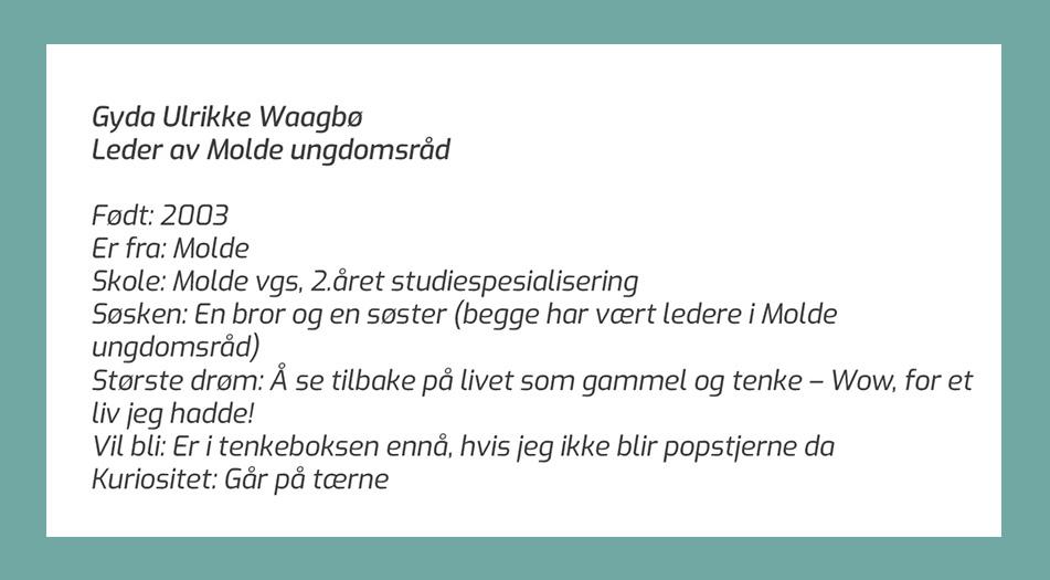 Faktaboks om Gyda Waagbø