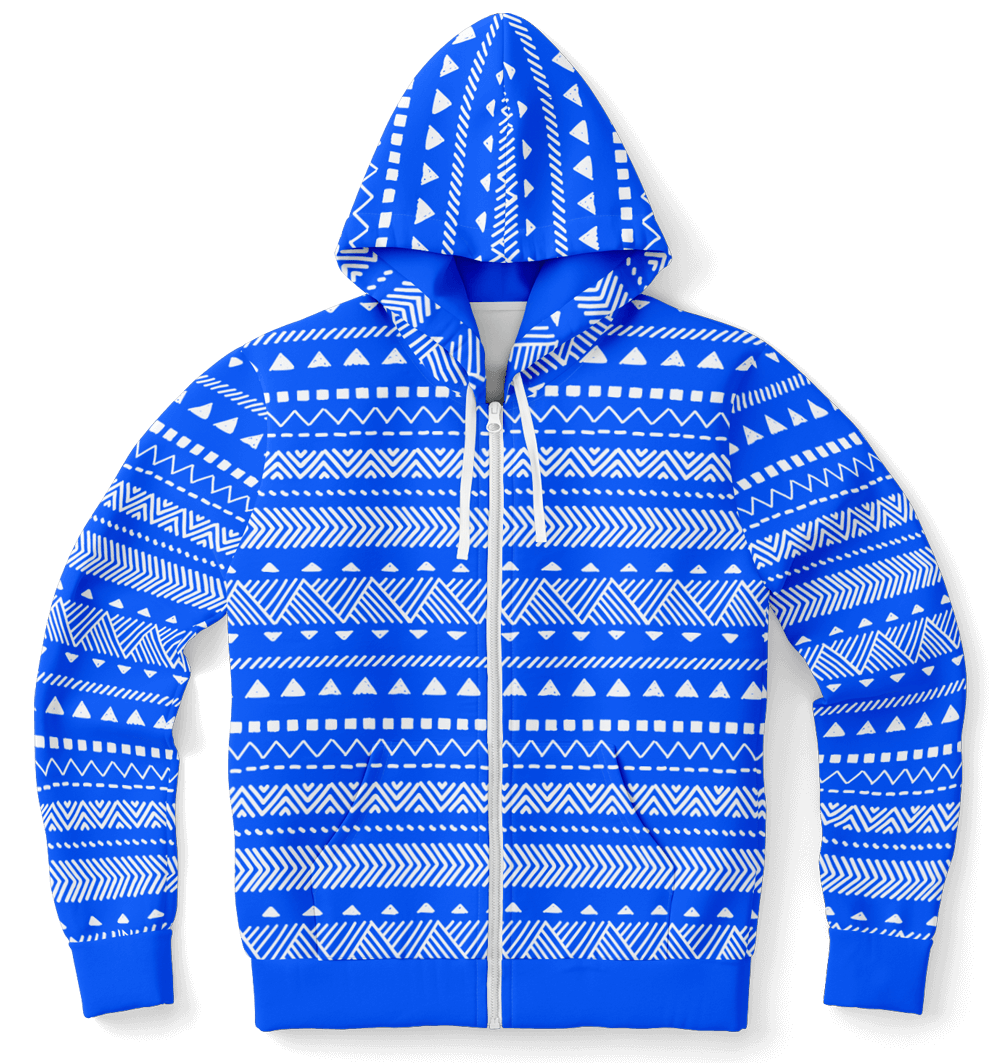 Athletic Zip-Up Hoodie - AOP