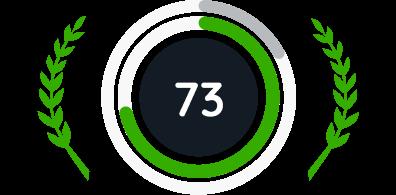 73% de score NPS