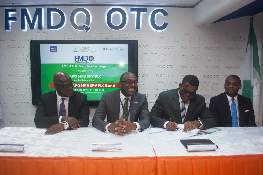 FMDQ Admits N3.15bn LAPO MFB SPV PLC Bond to its Platform