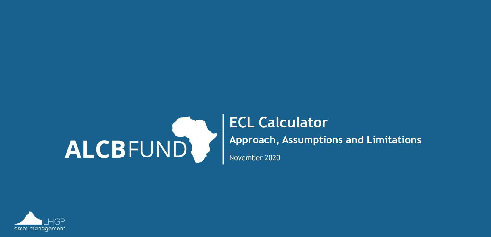 ECL Calculator - Approach Paper
