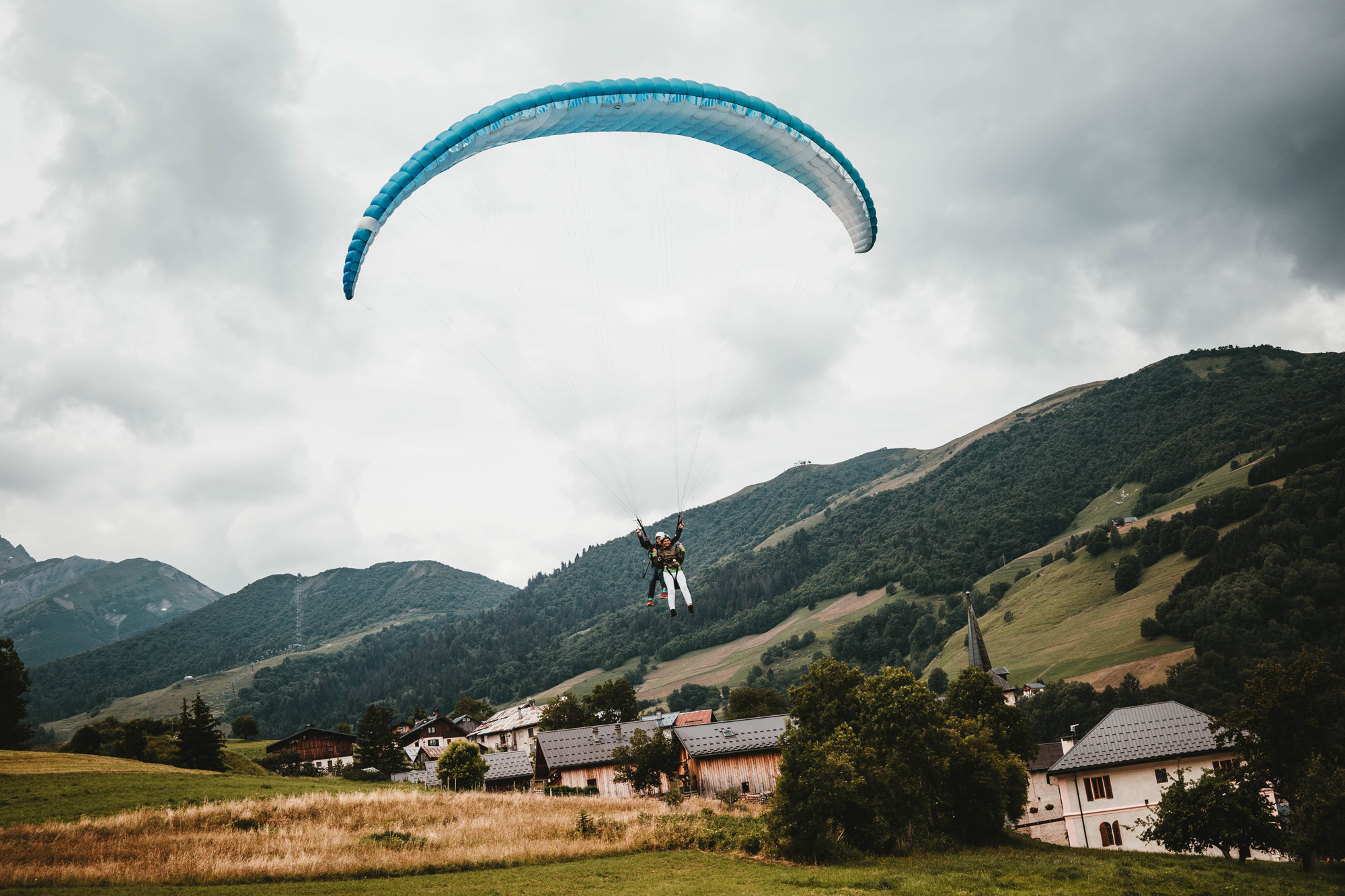Photo de biplace parapente