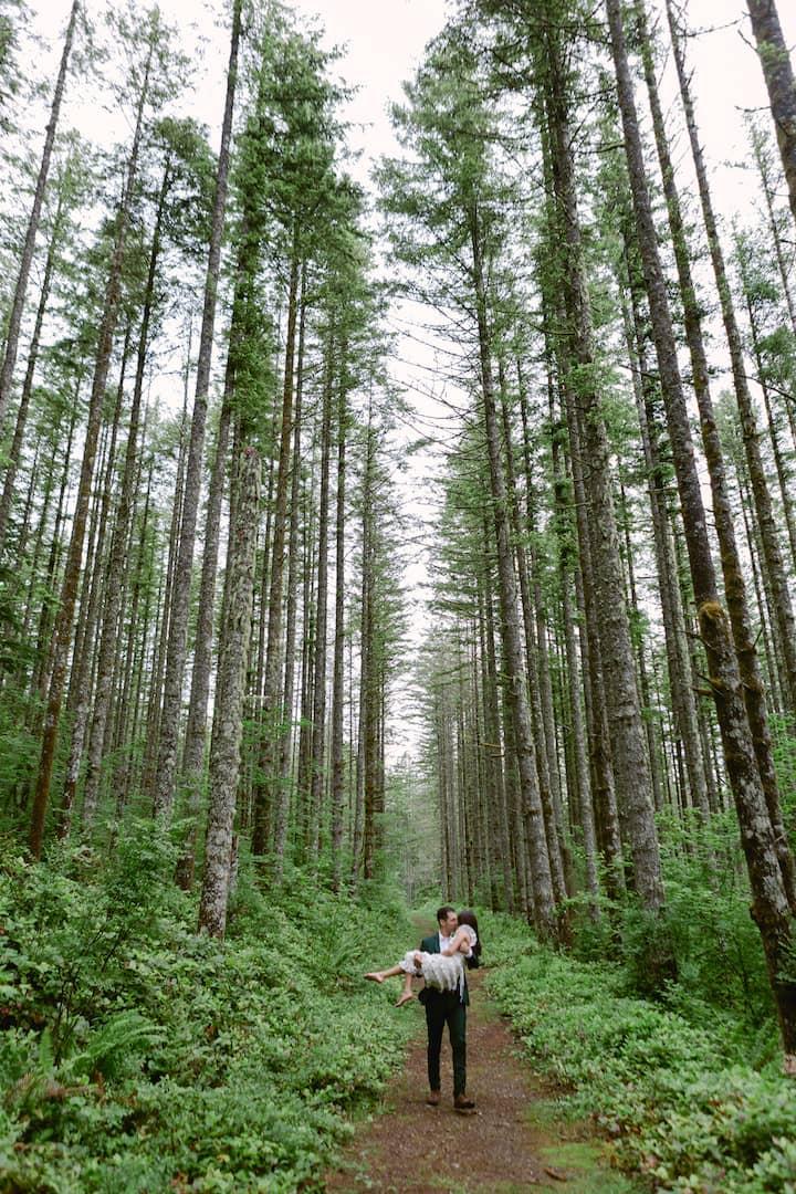 PNW forest elopement