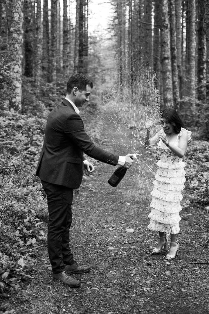 unique elopement photo