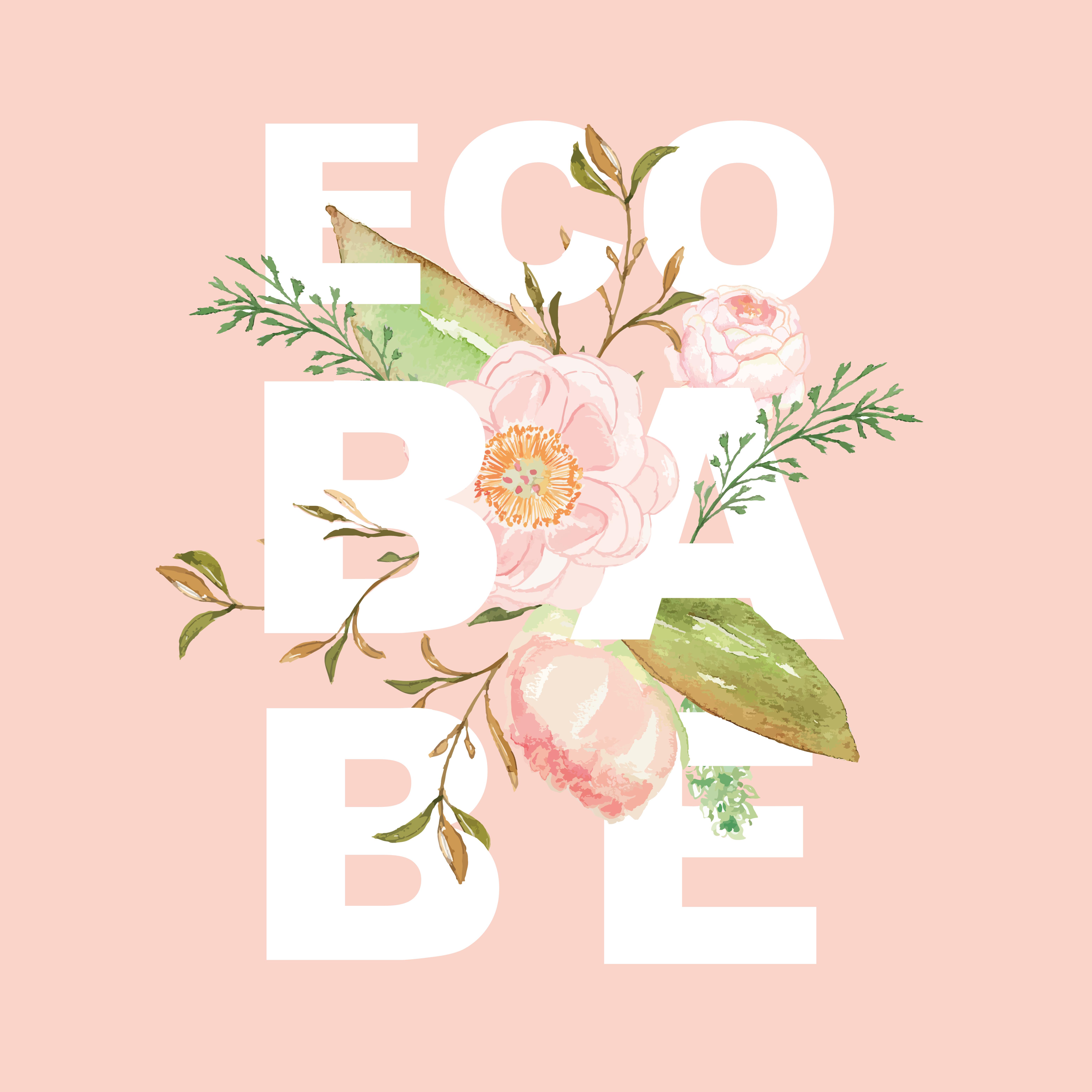 Ecobabe Collective Floral Logo