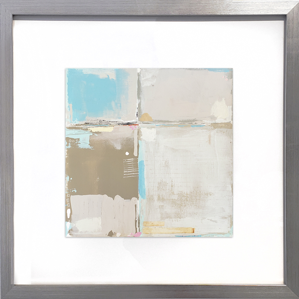 mixed media on paper; comes framed
