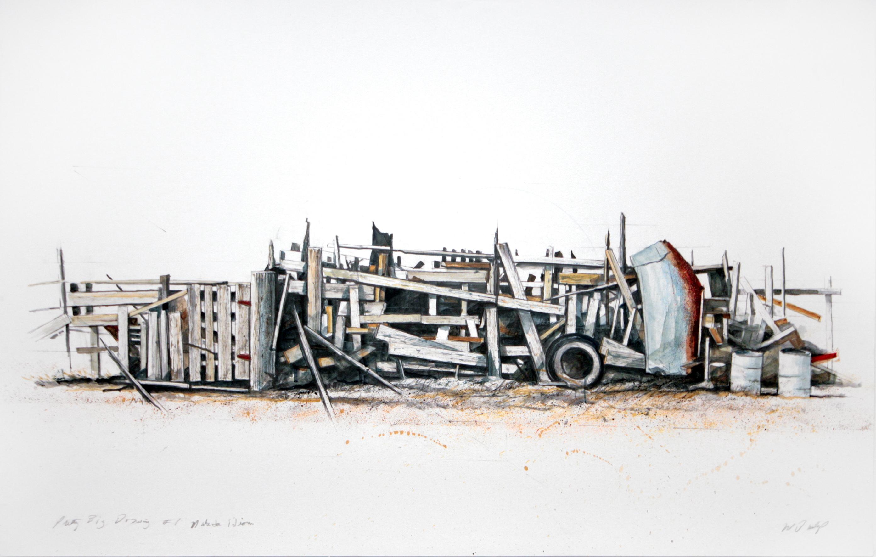 oil, graphite, & dry pigment on paper