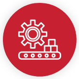 Red Smart Manufacturing icon