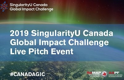 2019 SingularityU Canada GIC Live Pitch Event