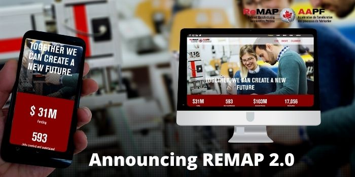 Visit our newly designed REMAP website that supports Canada's smart manufacturing ecosystem, showcasing our second cohort of industrial R&D projects.