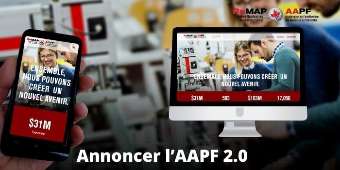 Nous vous invitons à visiter le website nouvellement conçu de l'AAPF qui soutient l'écosystème de fabrication intelligente du Canada.