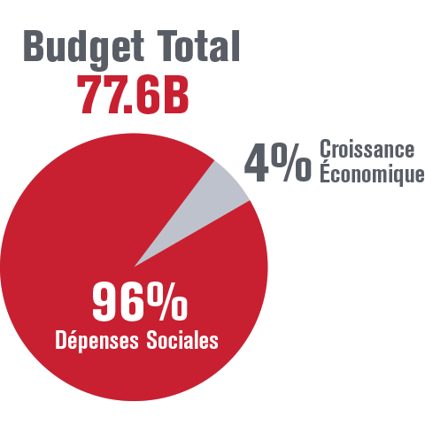 Budget total pie chart