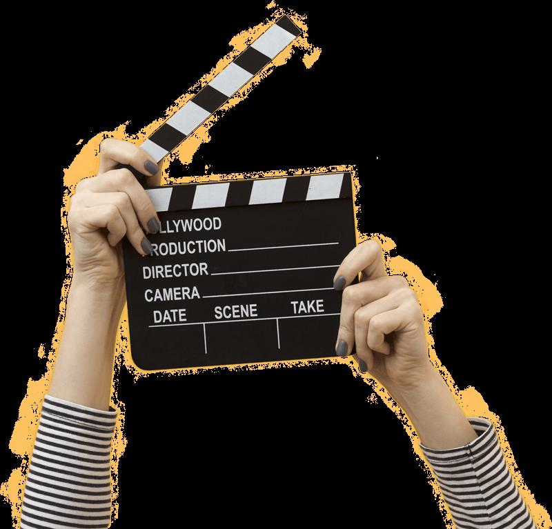 imagen de director de cine haciendo accion