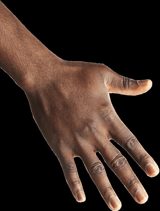 imagen de mano de persona negra