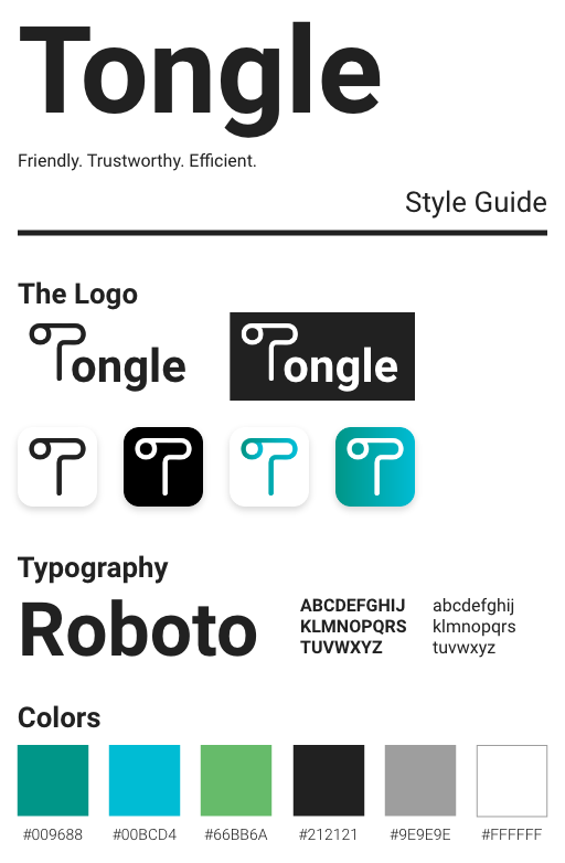 Tongle style guide
