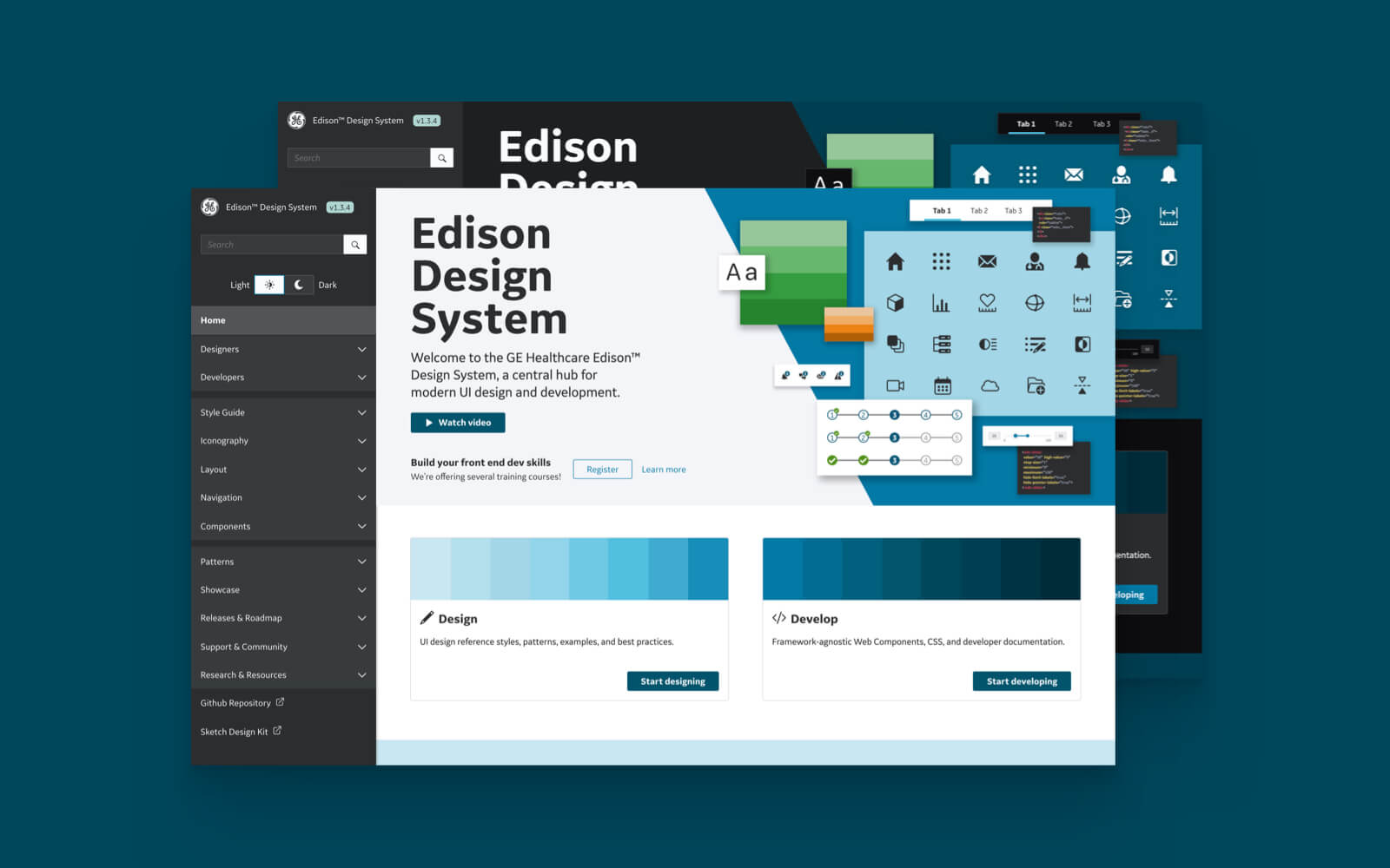 Heroshot of GEHC Edison™ Design System project