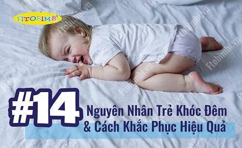 nguyên nhân trẻ khóc đêm