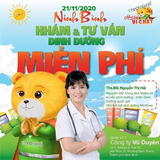 [SẮP DIỄN RA] HTVC SỐ 10 – Khám và tư vấn dinh dưỡng tại Ninh Bình