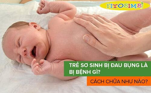 trẻ sơ sinh bị đau bụng