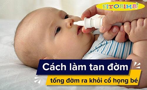 trẻ sơ sinh bị đờm trong cổ họng