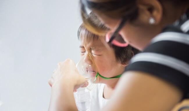 Hen suyễn sẽ gây cản trở đường thở của bé