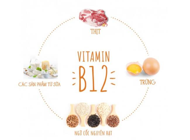 Vitamin B12 và các thực phẩm giàu vitamin B12