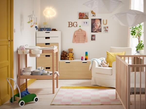 không gian phòng ở của trẻ sơ sinh dưới 1 tháng tuổi