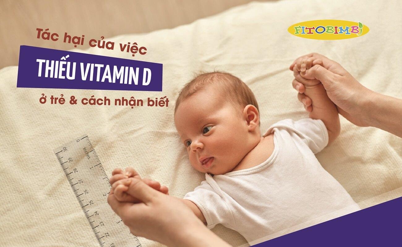 Trẻ thiếu vitamin d