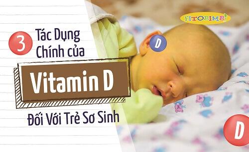 Tác dụng của vitamin d đối với trẻ sơ sinh