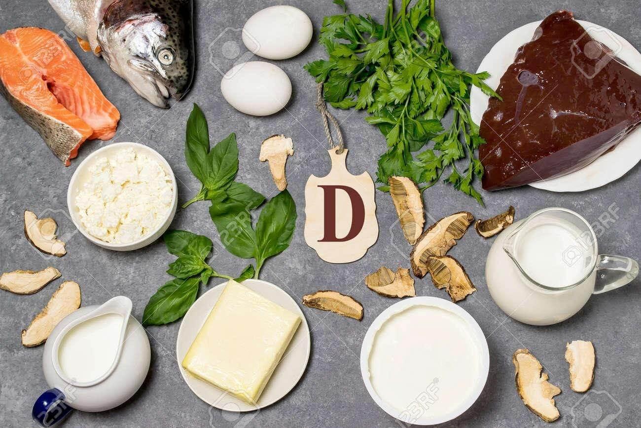 Vitamin D có nhiều trong sữa, gan, lòng đỏ trứng, nấm, dầu cá