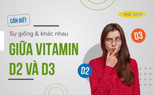 phân biệt vitamin d2 và vitamin d3