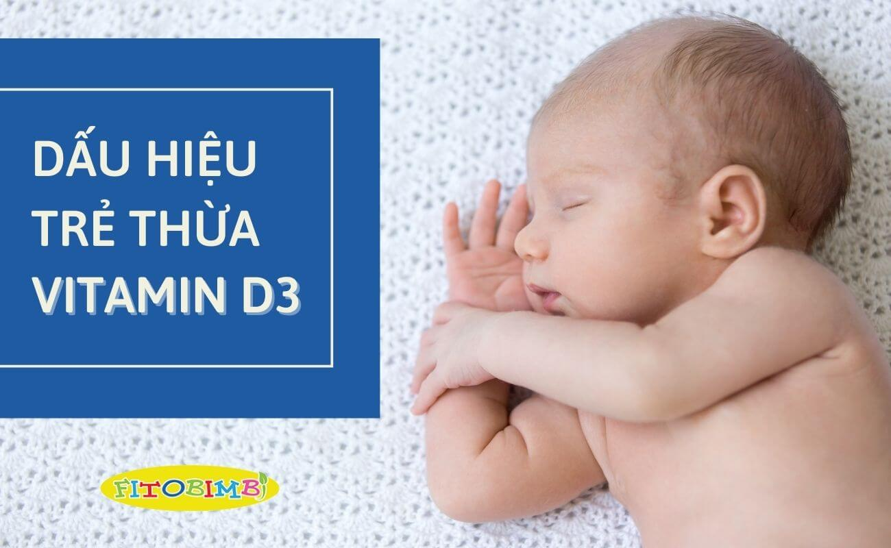 trẻ sơ sinh thừa vitamin d3