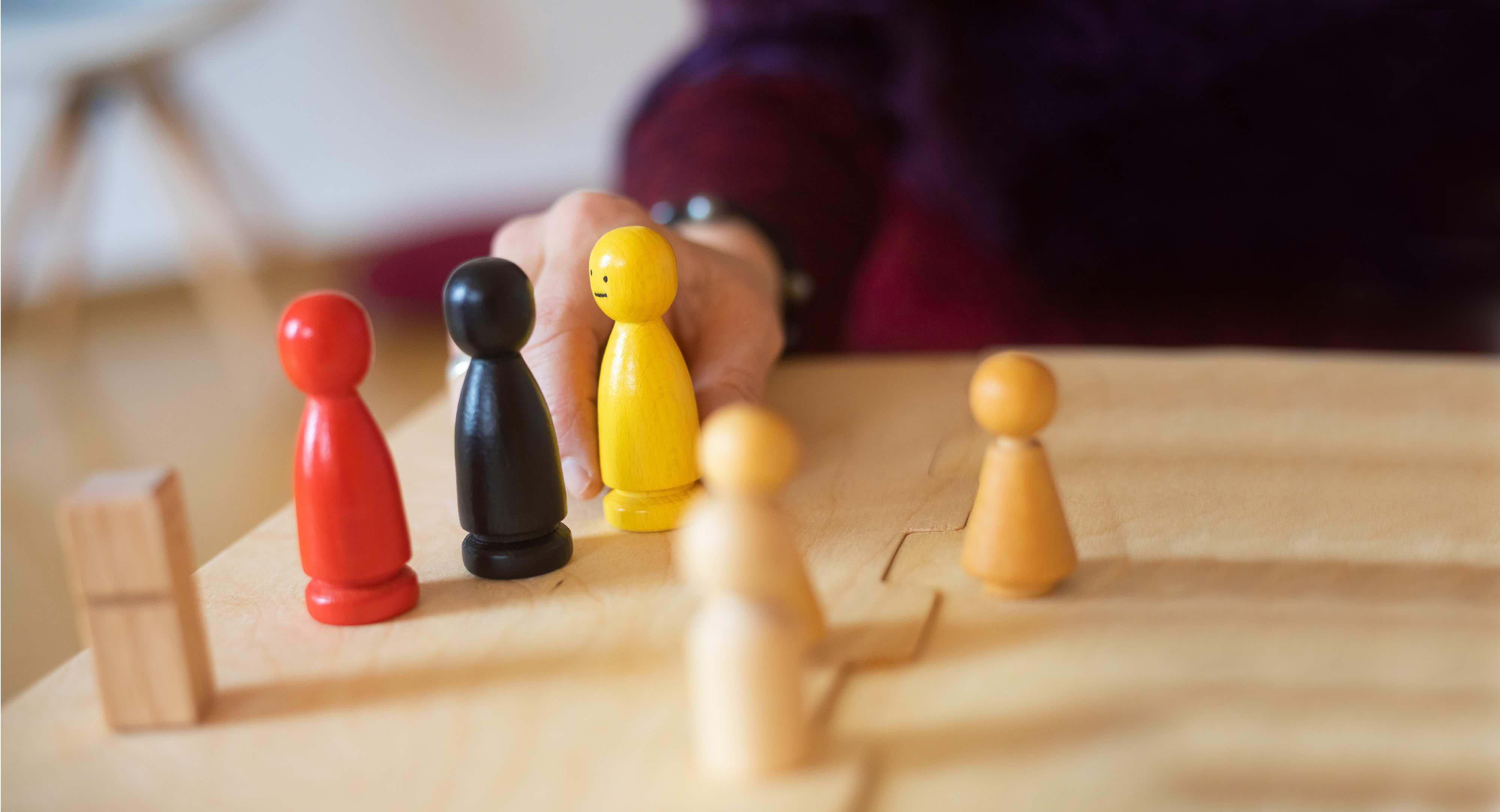 Familienaufstellung Figuren Problemstellen